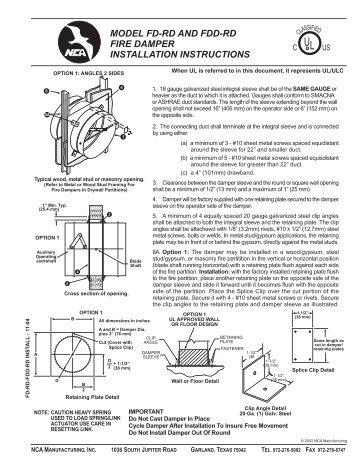 lyemance damper installation instructions