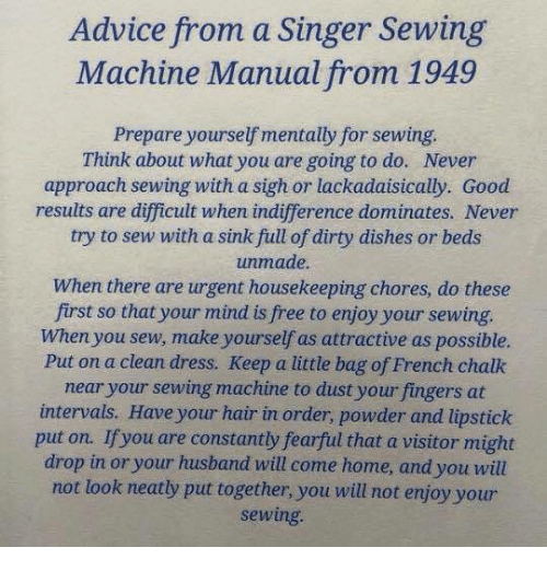 made by me sewing machine instructions