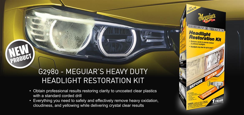 meguiars heavy duty headlight restoration kit instructions