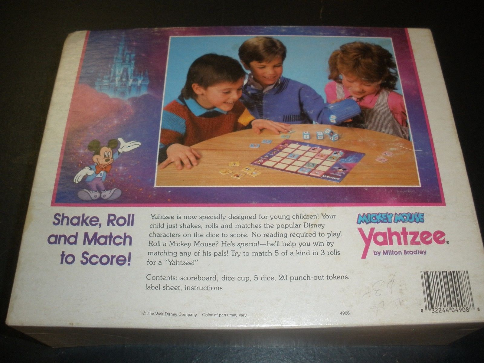 mickey mouse yahtzee instructions