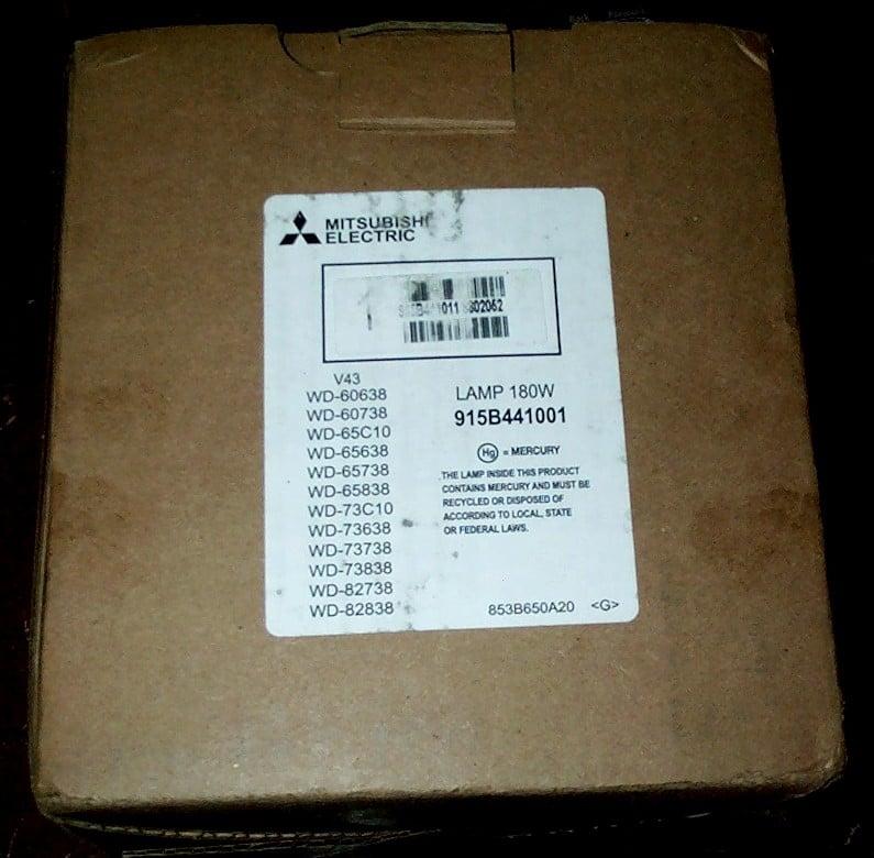 mitsubishi tv bulb replacement instructions