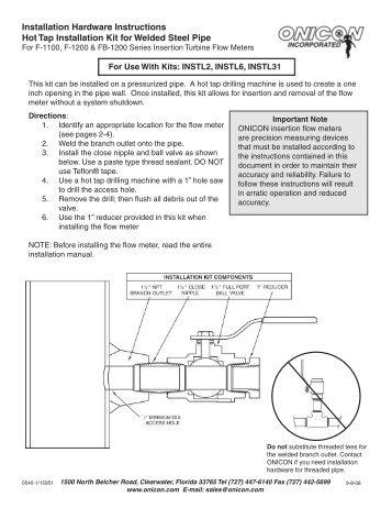 onicon f 1210 installation instructions