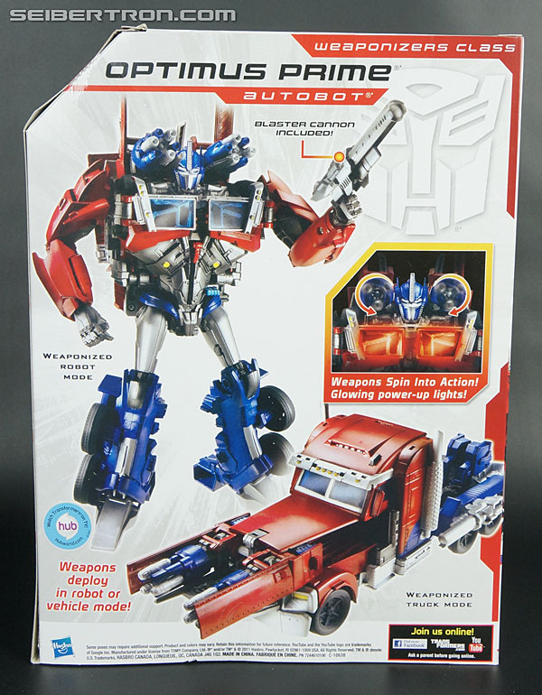 optimus prime weaponizer instructions