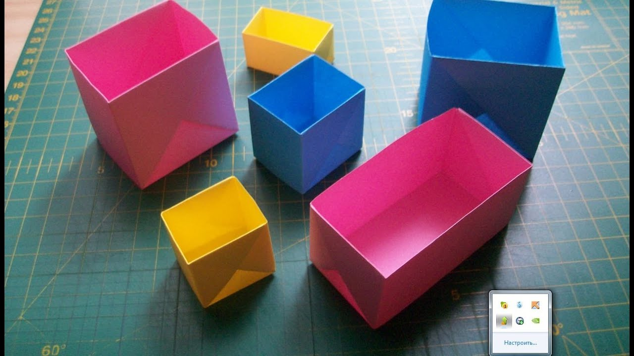 origami box with lid instructions