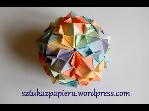 origami flower ball instructions