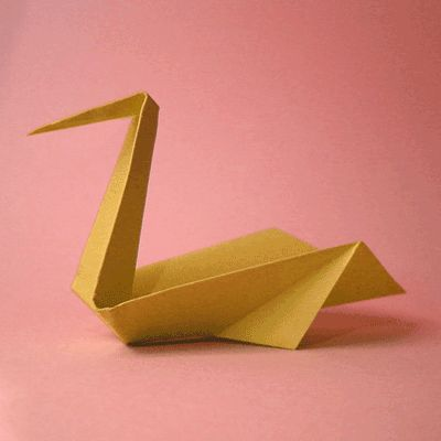 origami instructions for swan