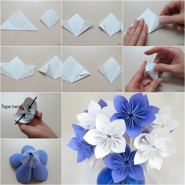 origami rose bouquet instructions