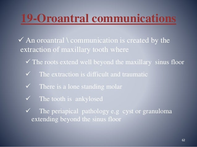 oroantral communication post op instructions