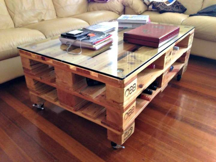 pallet coffee table diy instructions