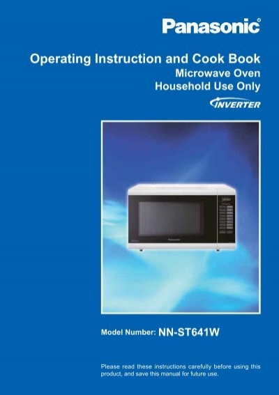 panasonic inverter microwave instruction book
