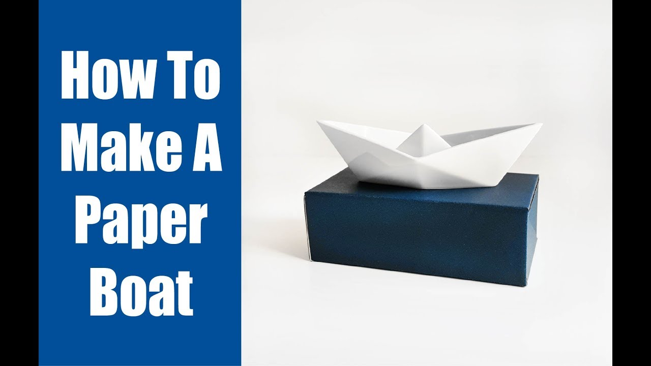 paper boat instructions youtube