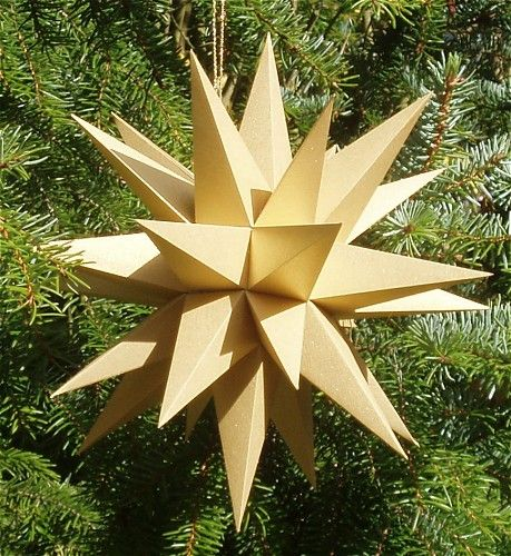 paper christmas stars instructions