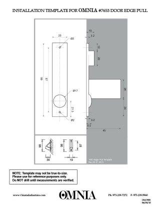 pocket door edge pull installation instructions