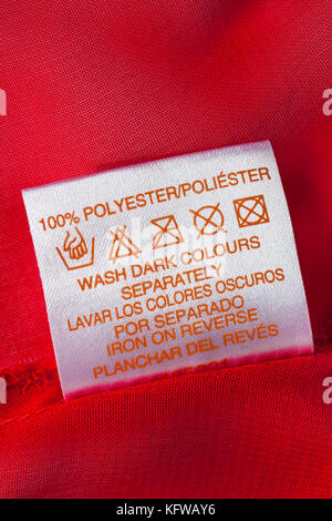 polyester wash care instructions