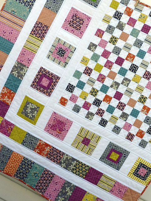 postage stamp quilt instructions