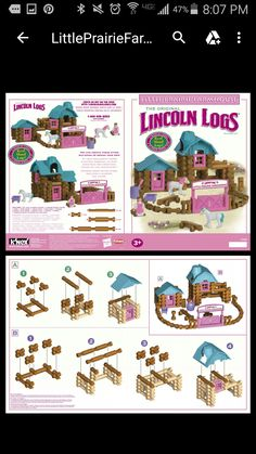 printable lincoln log instructions