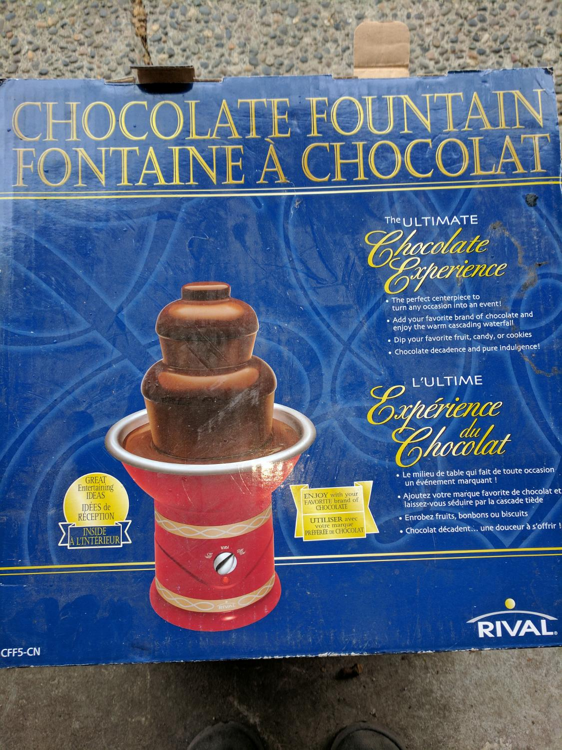 rival chocolate fountain instructions