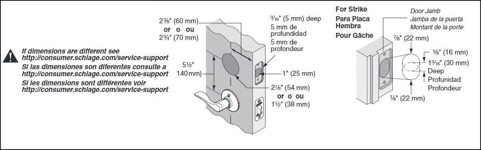 schlage l9092 installation instructions