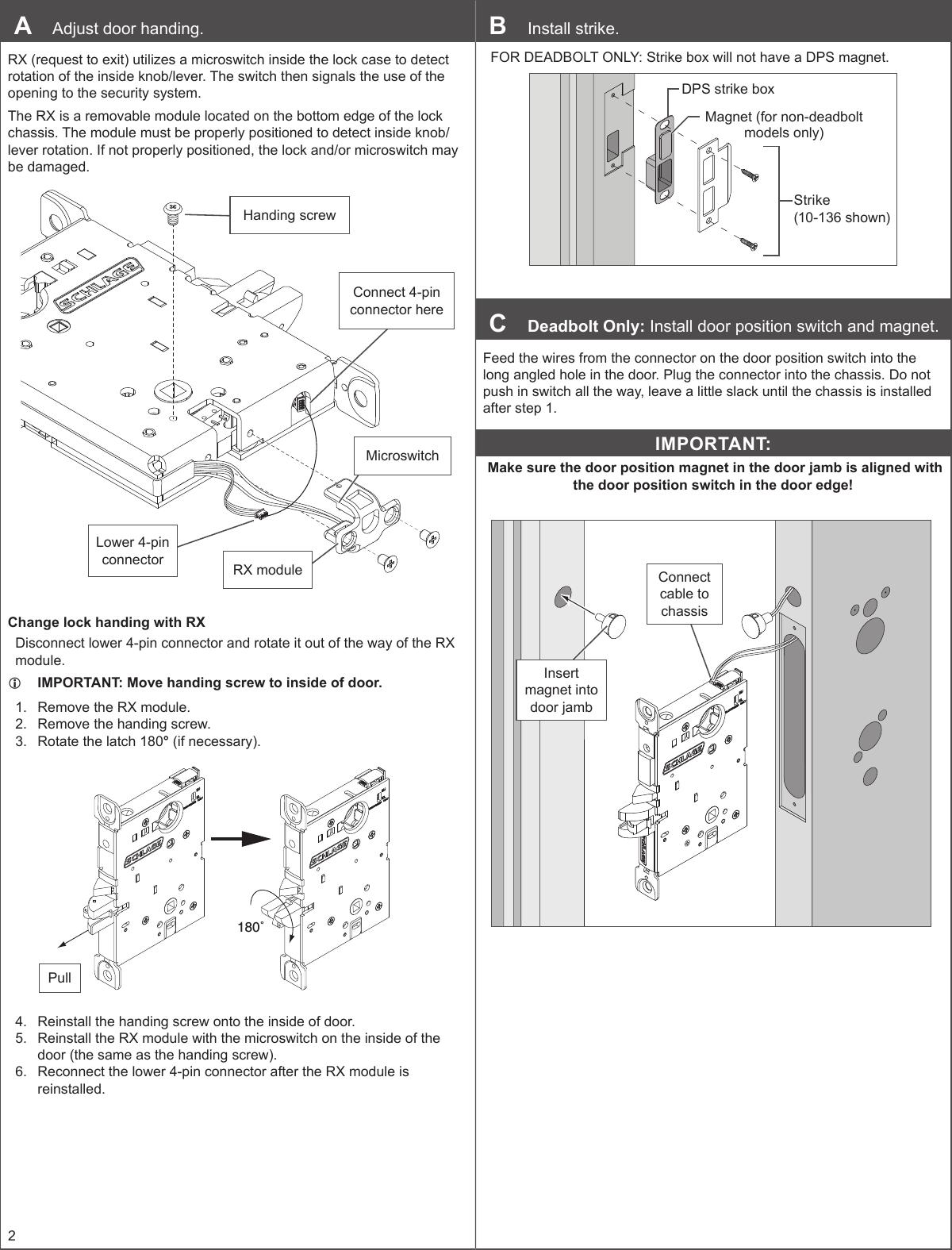 schlage lock installation instructions