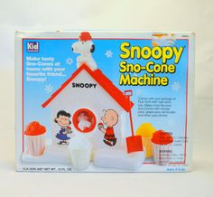 snoopy snow cone machine instructions