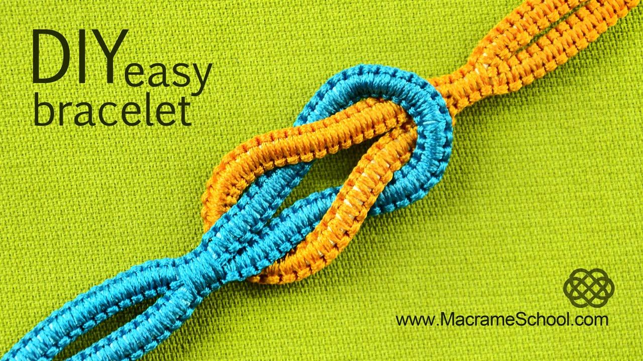 square knot friendship bracelet instructions