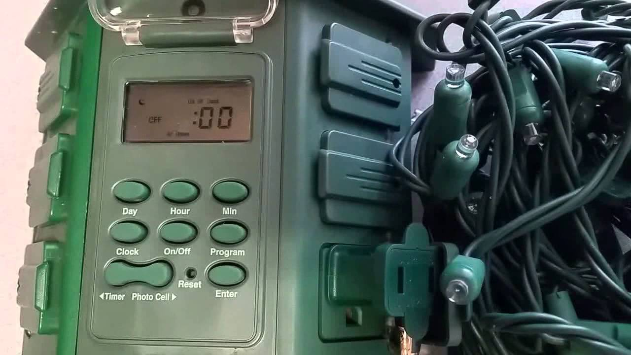 stanley outdoor timer instructions