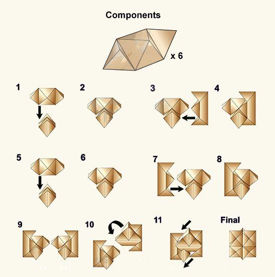 step by step 3d skull puzzle instructions