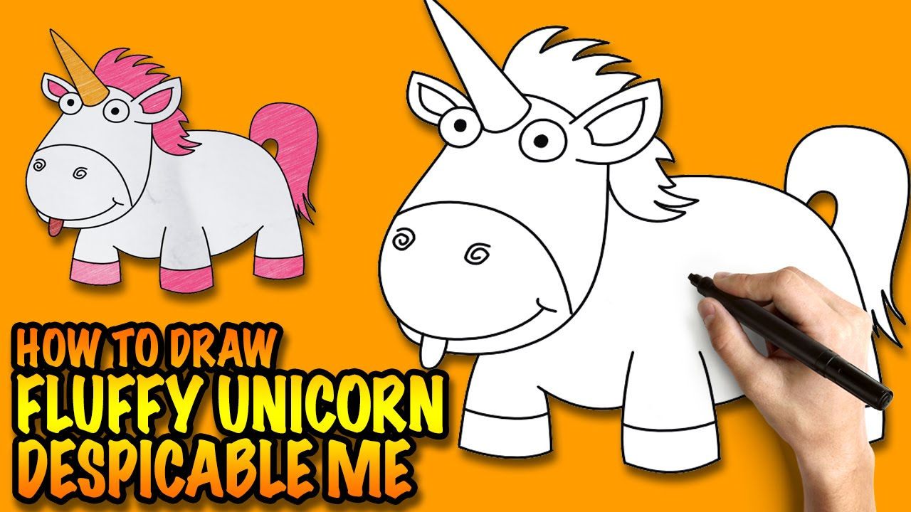 step by step instructions on how to draw a unicorn