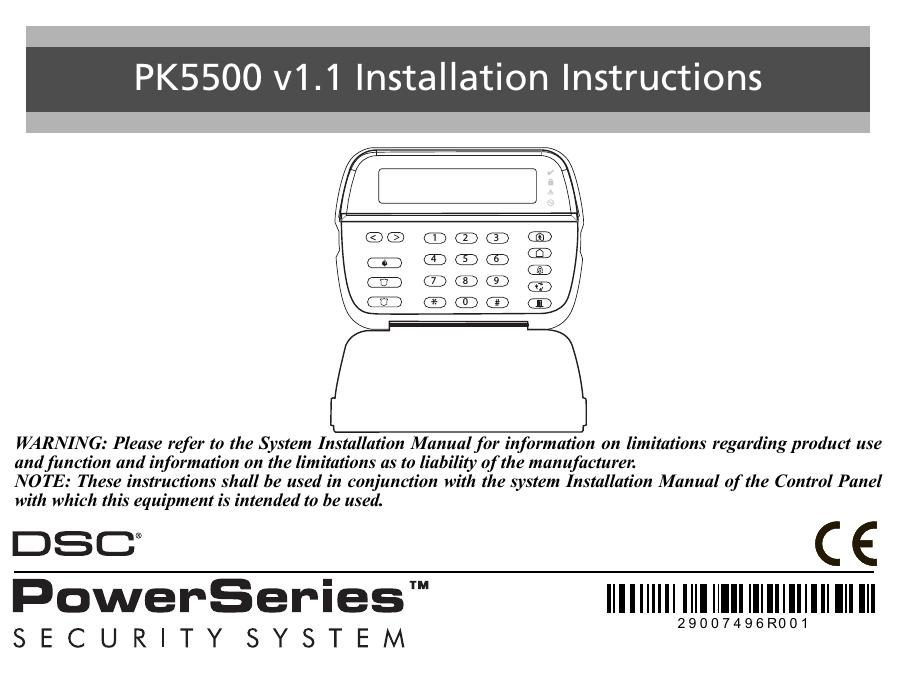 systeme alarme dsc instruction