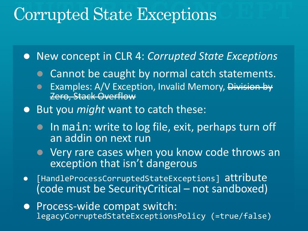 the exception illegal instruction