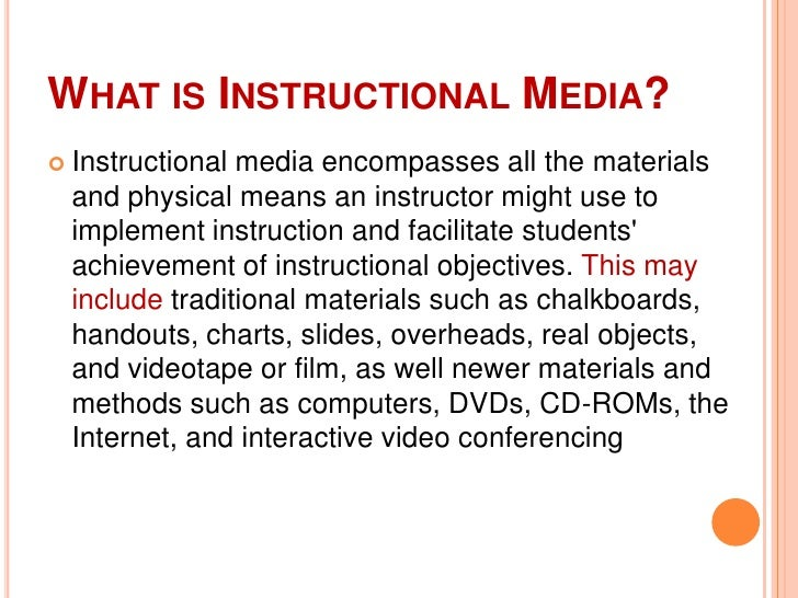 types of instructional materials in teaching
