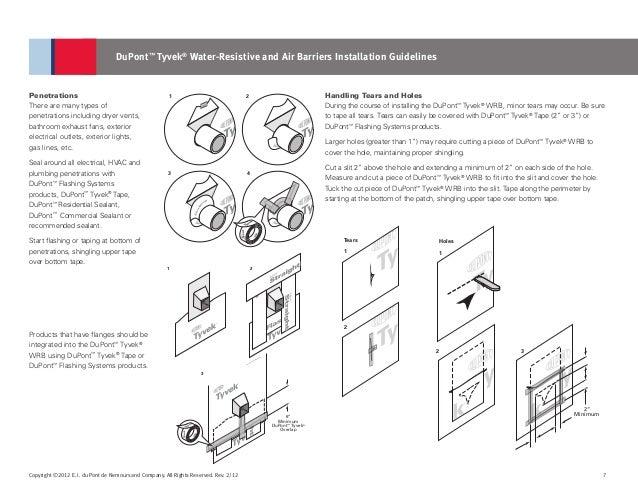 tyvek commercial wrap installation instructions