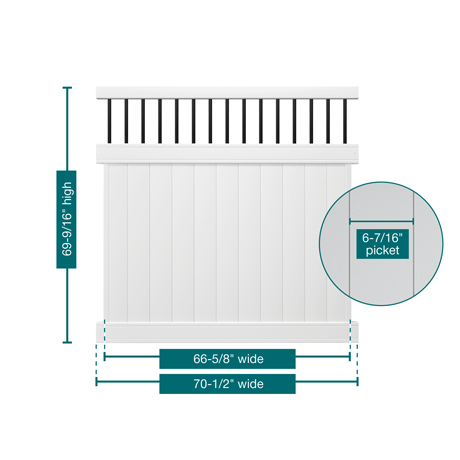 veranda vinyl fence installation instructions