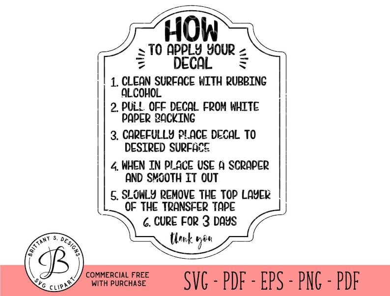 vinyl decal application instructions pdf