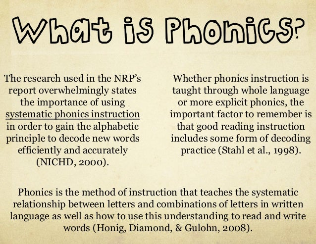 what is phonics instruction