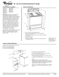 whirlpool gold stove instructions