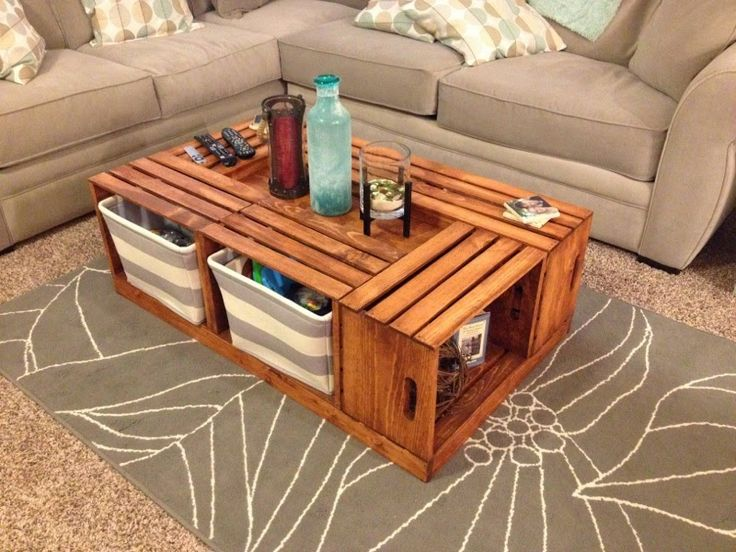 wine crate coffee table instructions