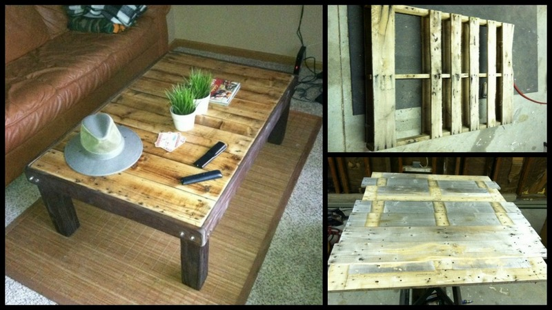 wood pallet coffee table instructions